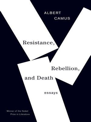 Camus Essay The Myth Of Sisyphus Camus  The Myth Of Sisyphus And Other Essays V